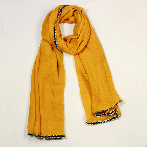 Solid Yellow Scarf
