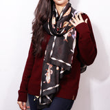 Fish Motif Digital Printed Scarf