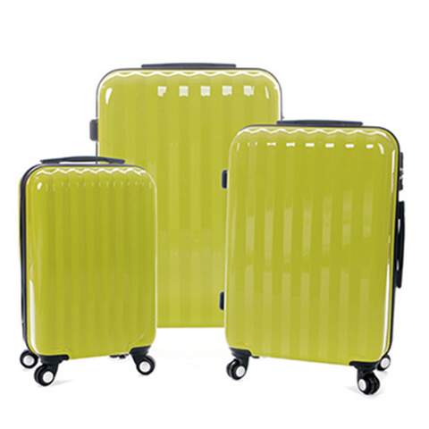 Lemon Solid Patter Pack Of 3 Trolley Bags