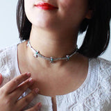 Stone Studded Antique Silver Tone Choker