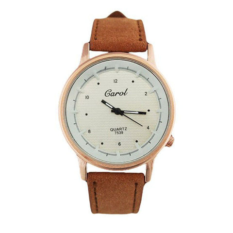 Carol Women's Analog Wave Dial Watch