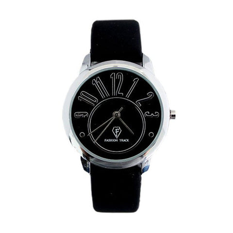 Optima Fashion Track Women's Watch: Classic Black