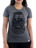 Women's Printed Tees By Fizz: Cigar Baba Dark Grey