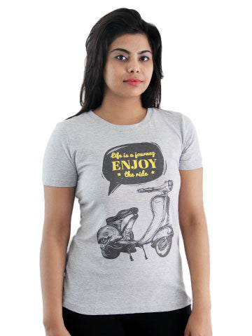 Women's Printed Tees: Journey of Life