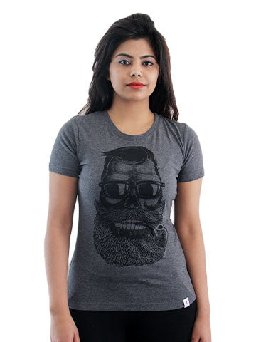 Women's Printed Tees: Cigar Baba