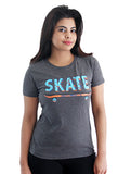 Women's Printed Tees By Fizz: Skater Design
