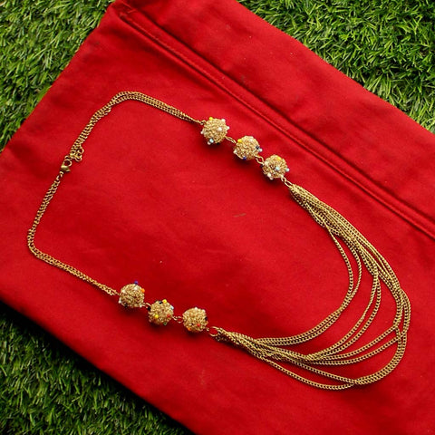 Coil Pompom on Sequence Necklace