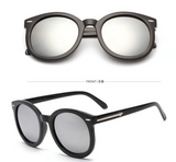 Geneva Silicon Chain Watch & Octa Vintage Oval Sunglasses