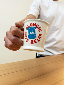"""Plungie Says Relax"" Diner Mug"