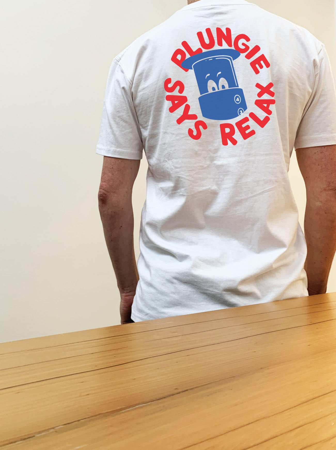 """Plungie Says Relax"" Tee"