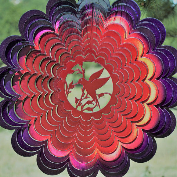 XL Hummingbird Wind Spinner