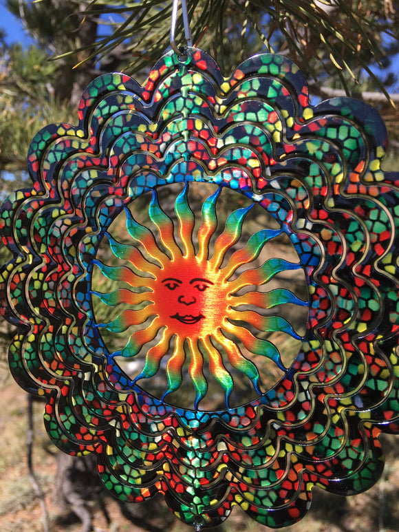 Mini Stained Glass Sun