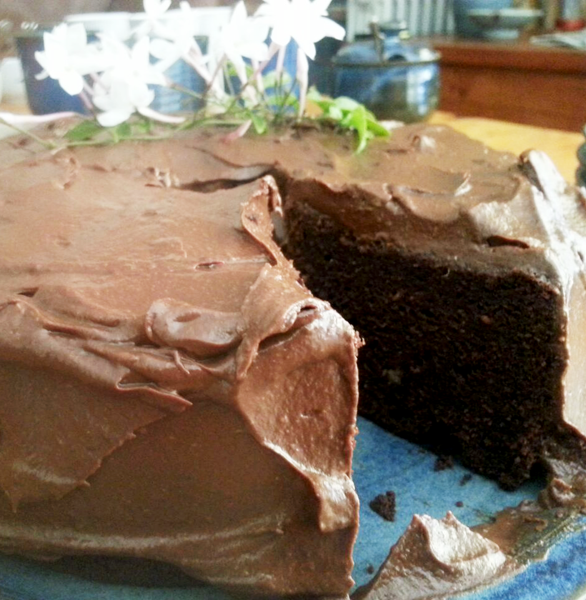 Gluten-free Beetroot and Chocolate Cake with Avocado Frosting
