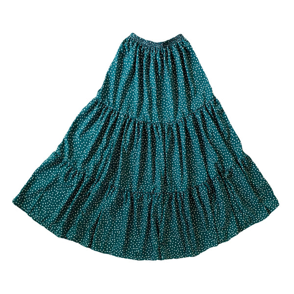 Ladies Emerald Spot Maxi Skirt