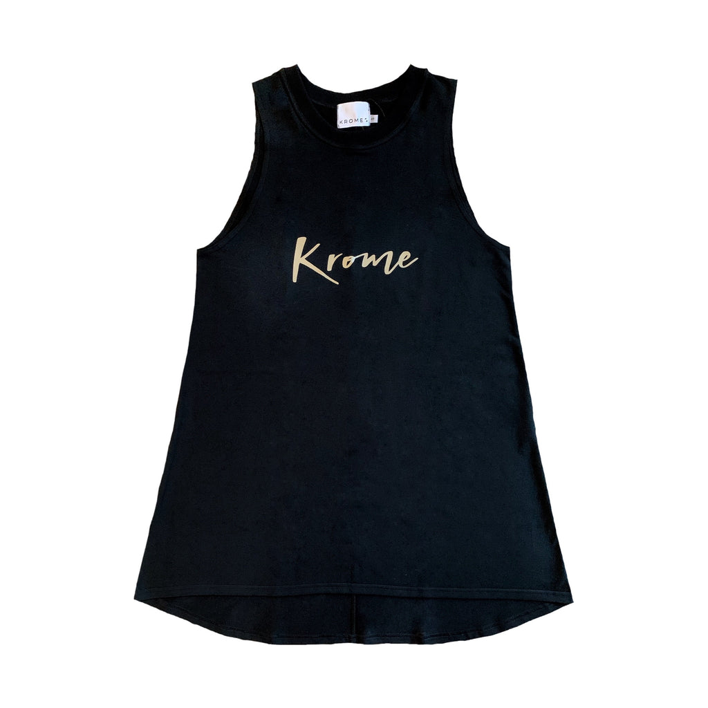 Ladies Black Tank Dress