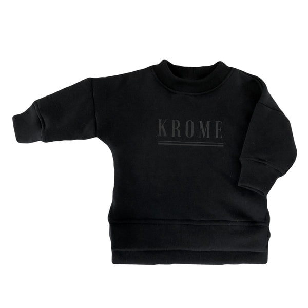 Kids Krome Sweater - Black