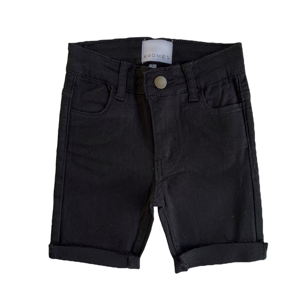 Krome Short Jeans - Kids - Black