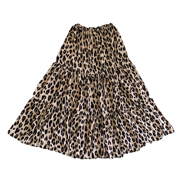 Ladies Leopard Print Maxi Skirt