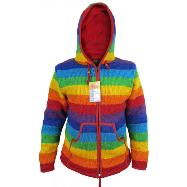 Rainbow Stripey Woolen Jacket