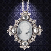 Victorian Silver Cameo Necklace