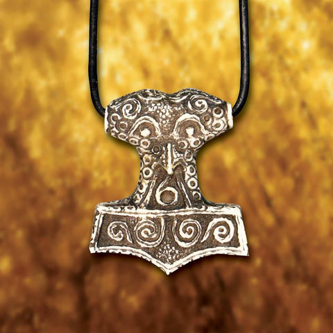 Thor's Hammer Carved Bone Pendant