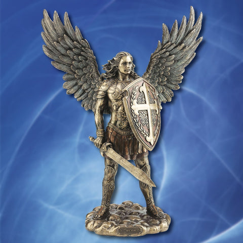 Archangel Saint Michael Statue in Full Armor