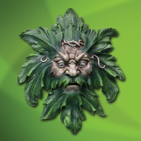 Green Man Sculptural Wall Plaque
