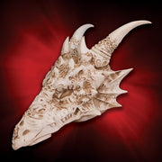 Cold Cast Resin Vermithrax Dragon Skull Statue
