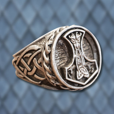 Thor's Hammer Viking Ring