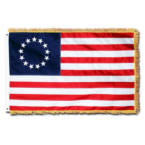 Embroidered Fringed Colonial Flag