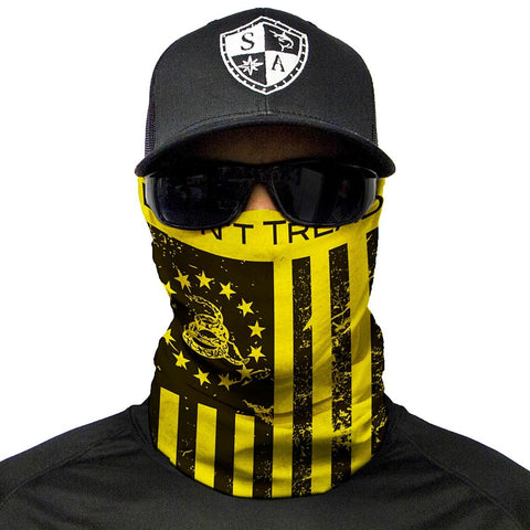 Multi Use Don't Tread on Freedom Face Shield Tubular Bandana