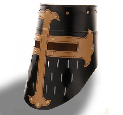 Leather Crusader Great Helm