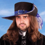 Suede Musketeer Hat - Costumes and Collectibles