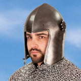 Visored Bascinet - Knight's Helmet