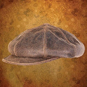 Antiqued Leather Spitfire Cap