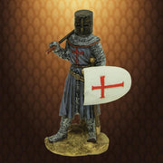 Armored Crusader Miniature Statue