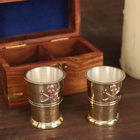 Pirate Captain Cups - Skull and Crossbones
