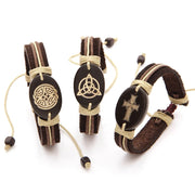 Celtic Leather Bracelet Set
