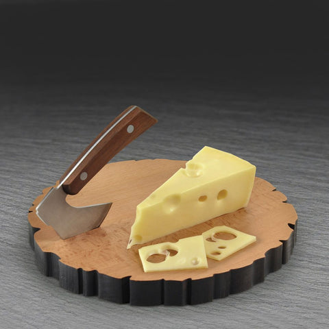 Cheese Board Log and Axe Set