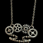 "Clockwork Mechanical ""Brass Knuckle"" Necklace"