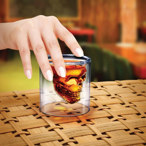 Crystal Skull Doomed Shot Glass
