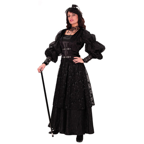 Empire Womenu0027s Ste&unk Gown - costumesandcollectibles  sc 1 st  Costumes and Collectibles & Steampunk Costumes for Women | Steampunk Clothing Outfits