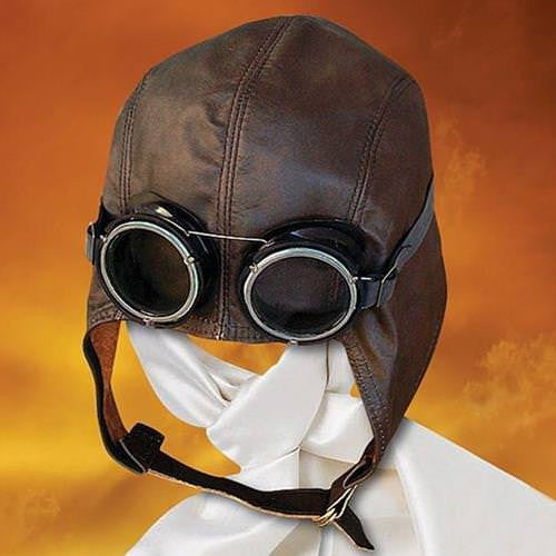 Steampunk Flying Ace Airship Pilot Goggles