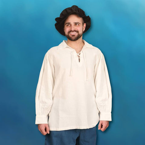 Hand-Stitched Men's Renaissance Shirt