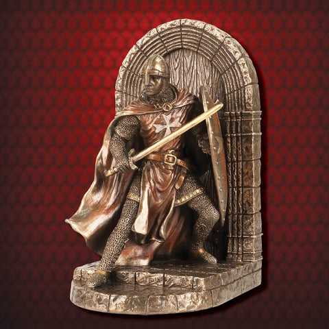 Hospitaller Knight Defense of the Realm Bookend - costumesandcollectibles