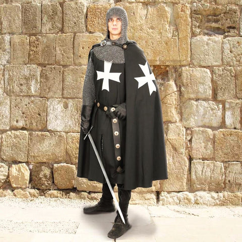 Hospitaller Knight Hooded Cape