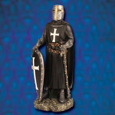 Hospitaller Knight Painted Statue