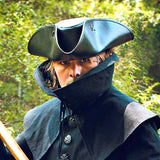 Capt. Jack Tricorn Pirate Leather Hat