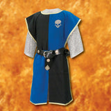 Knightly Tabard with Embroidered Crest - Blue & Black