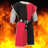 Knightly Tabard with Embroidered Crest - Red & Black